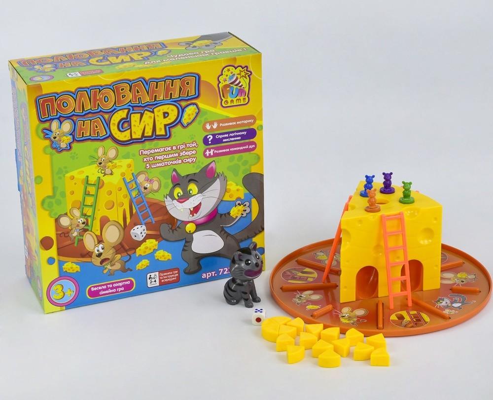 Игра настольная мышиная охота fun game погоня за сыром фото №1