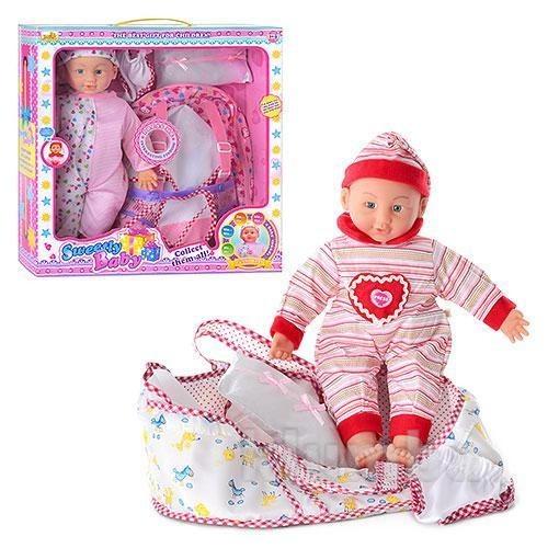 Интерактивная функциональная кукла -  пупс с переноской. рекомендую на подарок! фото №1