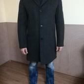 Новое мужское шерстяное пальто на синтепоне