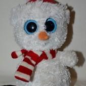 TY Милейшая очень редкий снеговик снеговичек глазастик лупастик