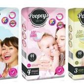 Подгузники Poopeys Premium Comfort памперсы Пупис премиум комфорт в наличии