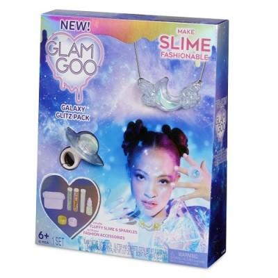 Glam goo набор для юного дизайнера слайм аксессуаров галактический блеск блестки красители кольцо фото №1