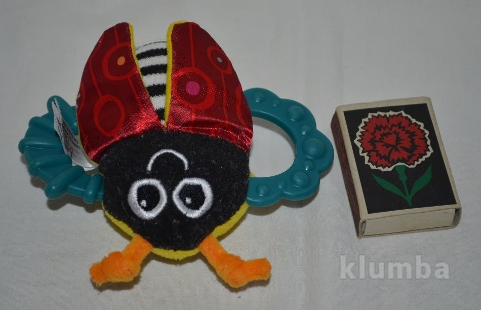 Lamaze ламазе фирменная погремушка грызунок шуршалка божья коровка пчёлка фото №1
