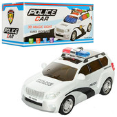Машинка полиция на батарейках музыкальная 3D свет