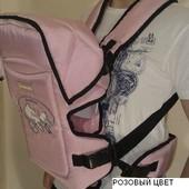 Рюкзак кенгуру переноска для детей Rainbow Womar15 excluzive (розовый)