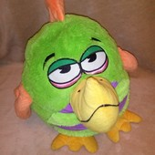 Большая музыкальная мягкая игрушка подушка Angry Birds