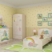 Гарантия 2 года! Комплектуете сами! Модульная детская комната Зайки, 9 пред., укр. производство