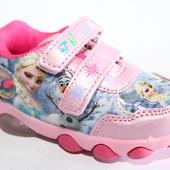 Мышонок арт.YW-2 розовыеЭльза Кроссовки для девочек. с мигалками