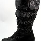 Сапоги женские дутики черные С404 р.39