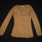 170 рост, бежевая блузка Zara из вискозы
