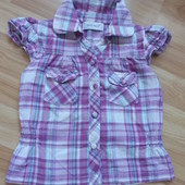 Фирменная легкая блузка early days малышке 1,5-2 года состояние отличное