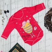 Красный бодик на девочку 68 размер, *есть нюанс пятно на спинке, Турция