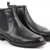 Ecco Ботинки Biarritz black демисезонные , р. 41-46 новые! оригинал!