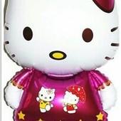 Большой фольгированный шар Hello Kitty - 82 см. Укрпочта 8 грн.