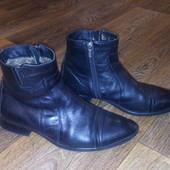 Ботинки кожаные на цегейке р.41