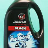 Гель для стирки Der Waschkonig Black Gel для чёрных тканей 1,5 л - 42 стирки Германия