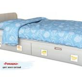Гарантия 2 года! Кровать Ромашка 2 ящ., 70х140 см, укр. производство