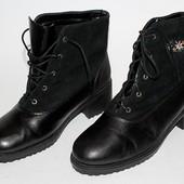 Ботинки Soltano,Германия, кожа,зима,оригинал 40 р