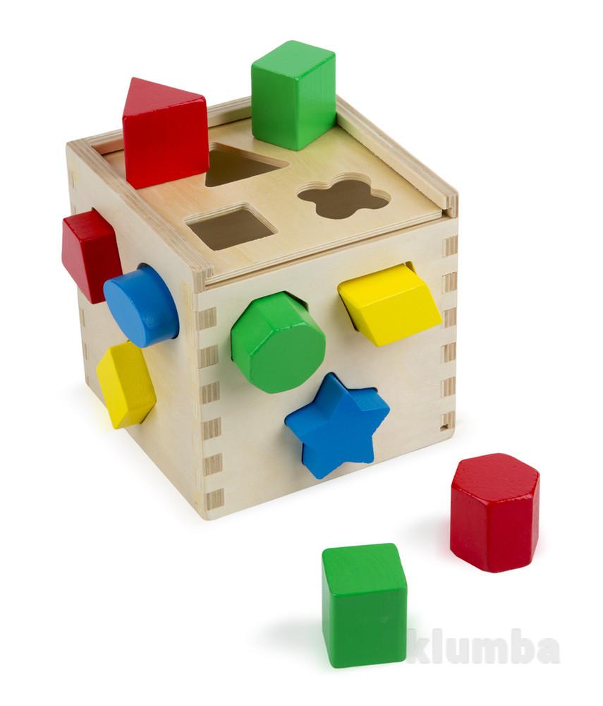 Сортировочный куб из дерева фото №1