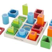 Деревянные игрушки для малышей, сортер из дерева разноцветные фигуры