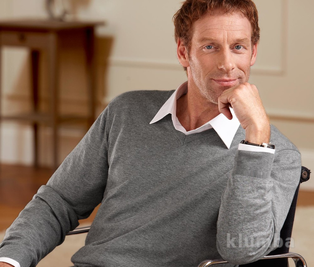 Мужской пуловер, свитер кашемир tchibo tcm р.52-54 фото №1