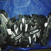 Доставка!Ролики 31-34р. черный. pu колесо, алюм. рама, подшипник Abec-7.aртикул: JP-L902/46-11