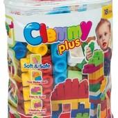 Распродажа - Конструктор мягкий ароматиз. Clemmy Plus  60 деталей в сумке от Clementoni (Италия)