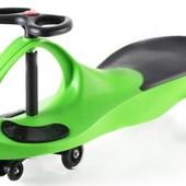 + видео!!! Машинка Smart сar pu зеленая  полиуретан.колеса. SM-GP