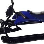 Доставка! Санки-мотоцикл (зеленый та синий). артикул SLED07