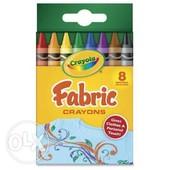 Крайола Восковые мелки Crayola Fabric Crayons 8 Count для апликаций на ткани