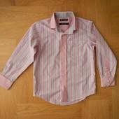 5-6 лет Marks&Spencer как новая стильная рубашка хлопок. Длина 49 см, ширина 35,5 см, плечи - 30 см,