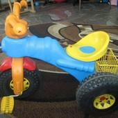 Велосипед трехколесный голубой Орион Кросс. артикул 399