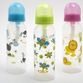 Бутылочка мягкая для каш с ложечкой и приспособлением  для чистки, 250 мл.(Артикул:Li 123)