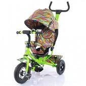 + видео!!!Велосипед трехколесный Tilly trike (T-351-2 салатовый)