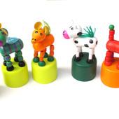 Деревянные марионетки жираф, животные, цветочек