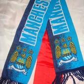 Фірмовий шарф .Ф.к Манчестер Сіті .