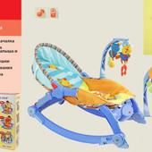 Кресло-качалка вибро, 3 положения, музыка, игрушки. артикул 7179