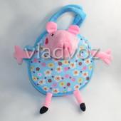 Сумка свинка пеппа для девочки мягкая игрушка голубая