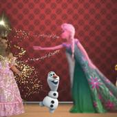 Поздравление по мотивам мультфильма Холодное сердце и Холодное торжество