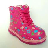 Скидка! Милые демисезонные ботинки для девочек, р. 21, 22, код 231