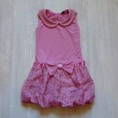 Нежное нарядное платье для девочки. George. Размер 2-3 года. Состояние: новой вещи.