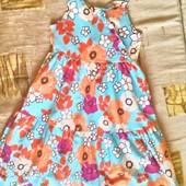 Цветочный сарафан для девочки 3-4 года ( 98 -104) до 110)