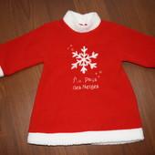 12-18 мес. Новый Год ,Рождество платье, туничка In Extenso. Идеальное состояние