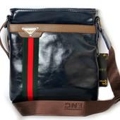 Мужская стильная качественная сумка синего цвета
