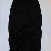 Стильная трикотажная юбочка для девочки. Впереди короче. Miss e-vie. Размер 12-13 лет.