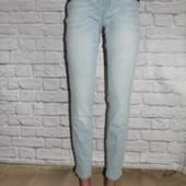 Прямые голубые джинсы ZARA,  M