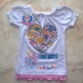 Новая футболка на девочку размер 122