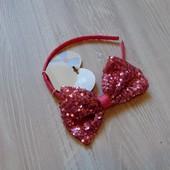 Новый нарядный обруч для девочки. TU. Размер 3-6 лет.