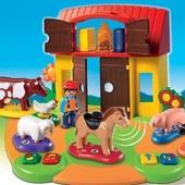 1-2-3 Обучающая ферма Playmobil 6766. Изучения 8 языков