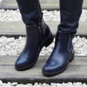 Осенние ботинки синие 36-41р